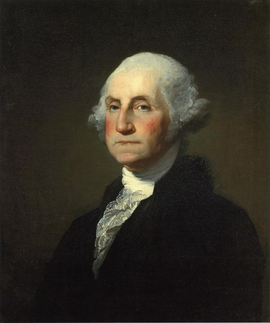 Click photo to download. Caption: A portrait of George Washington by Gilbert Stuart. Credit: Gilbert Stuart.