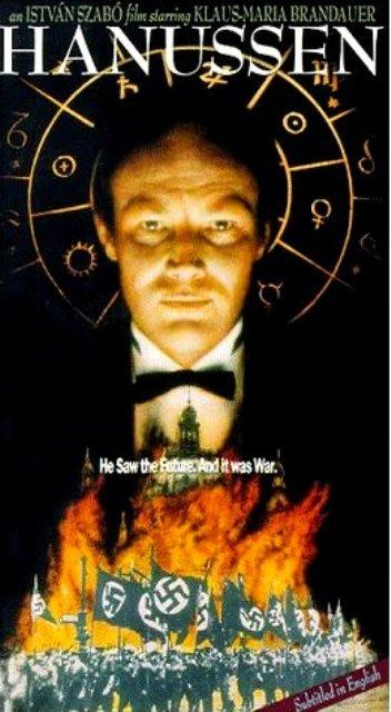 Click photo to download. Caption: A poster for a 1988 film on Erik Jan Hanussen, who cleverly exploited the desperate Nazi public's fascination with the occult, rising to Berlin society's top rank and even entering the inner circle of Hitler's demonic advisors. Credit: Wikimedia Commons.