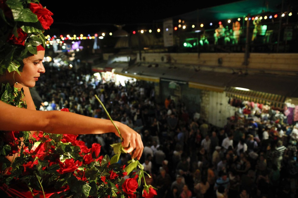 Click photo to download. Caption: A scene from the Balabasta festival in 2011 in Jerusalem. Credit: Snir Kazir.