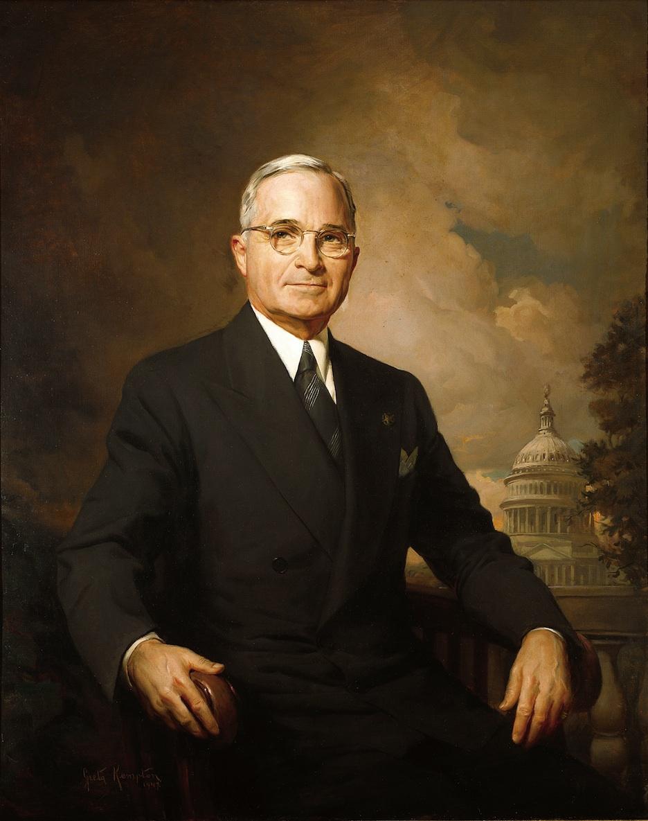 Click photo to download. Caption: A portrait Harry S. Truman. Credit: Greta Kempton.