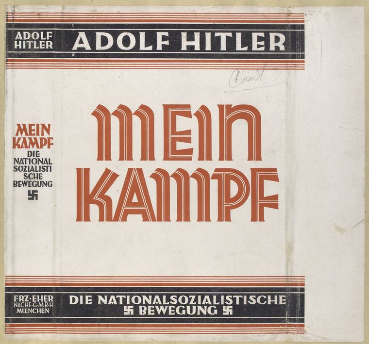 Click on photo to download. On January 1, 2016, Mein Kampf is scheduled to enter the public domain, available for anyone to re-publish and disseminate. Credit: PD.