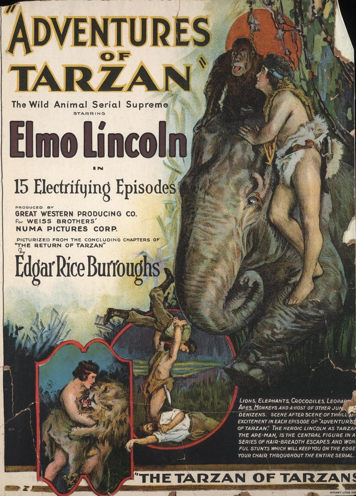 """Click photo to download. Caption: The """"Adventures of Tarzan"""" cover. Credit: Ritchey Litho. Corp."""