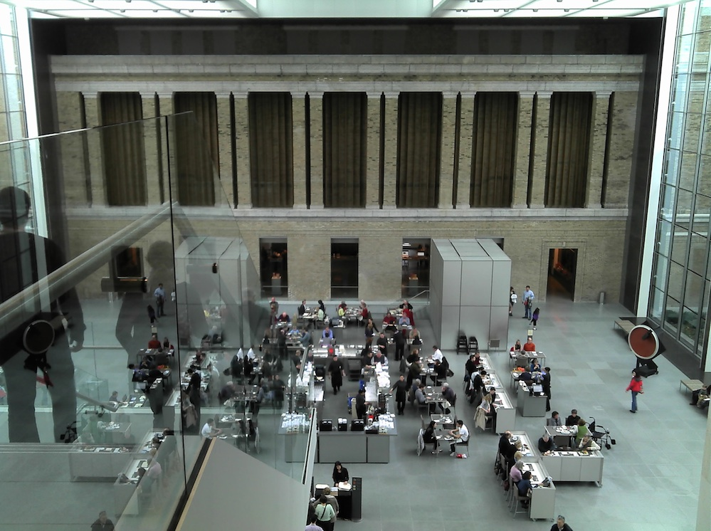 Click photo to download. Caption: Inside the Boston-based Museum of Fine Arts (MFA), the host of an upcoming weeklong Palestinian film festival.