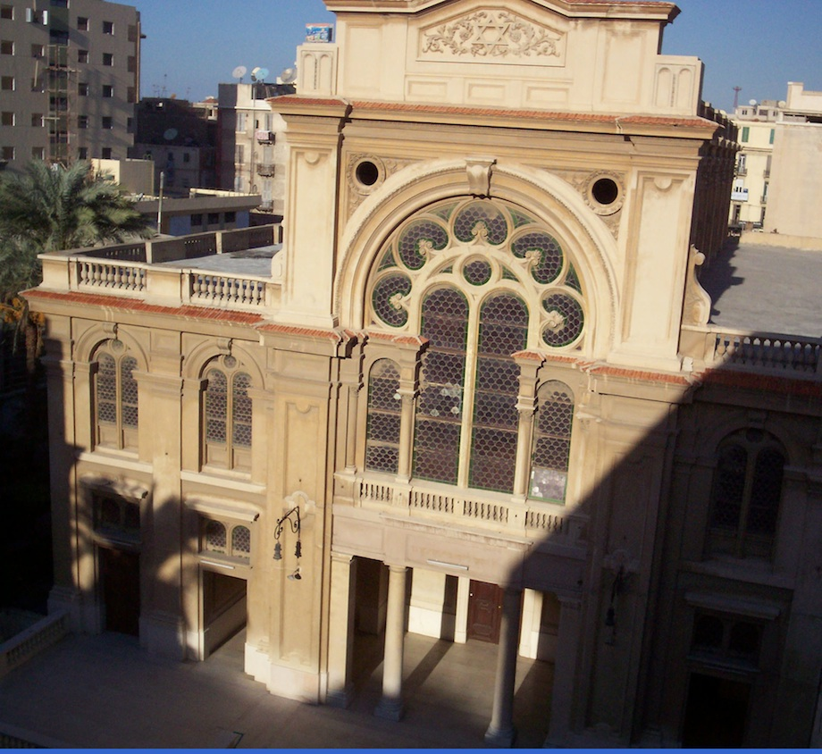 Click photo to download. Caption: The Eliyahu Hanavi synagogue in Alexandria, Egypt. Credit: Wikimedia Commons.