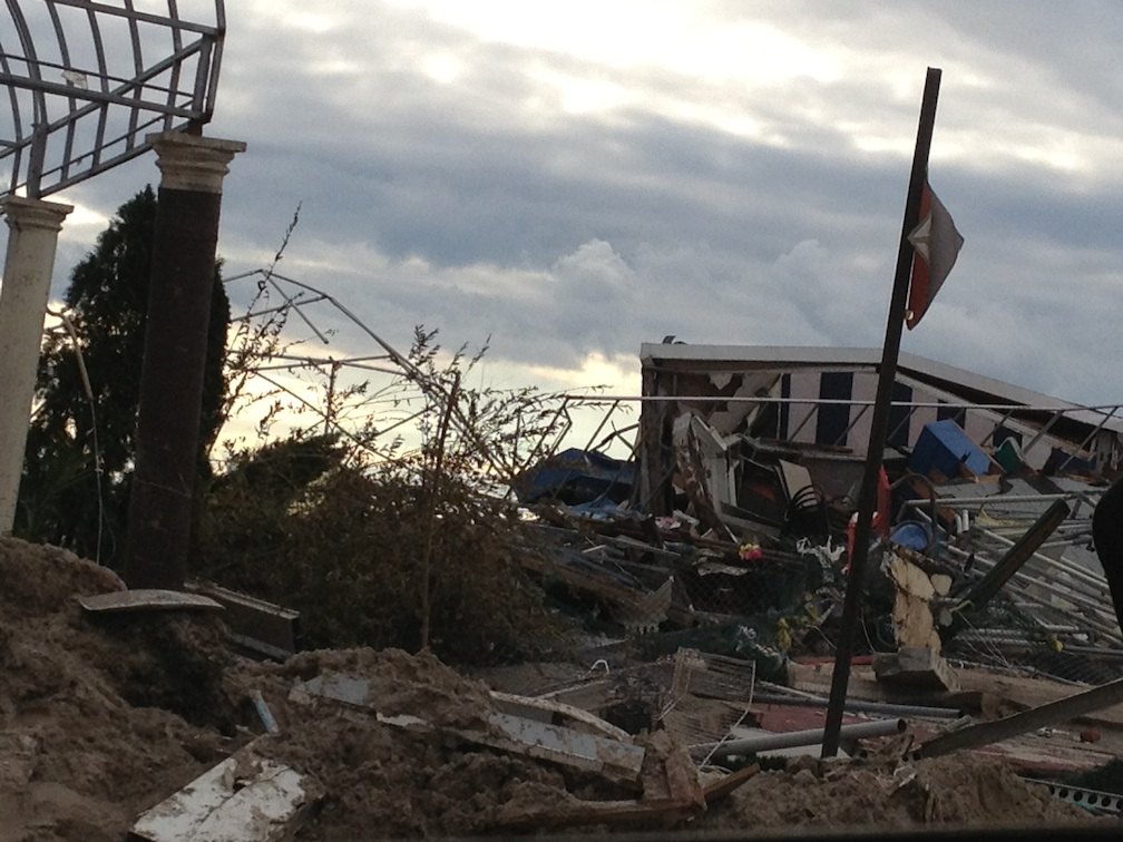 Click photo to download. Caption: Devastation in Brooklyn's Sea Gate section after Hurricane Sandy. Credit: Courtesy Rivkah Brikman.