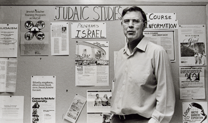 """Click photo to download. Caption: Prof. Davis S. Wyman, pictured, recalled Janis R. Coulter as """"an outstandingly good student, in a class that was not easy."""" Credit: Courtesy of The David S. Wyman Institute for Holocaust Studies."""