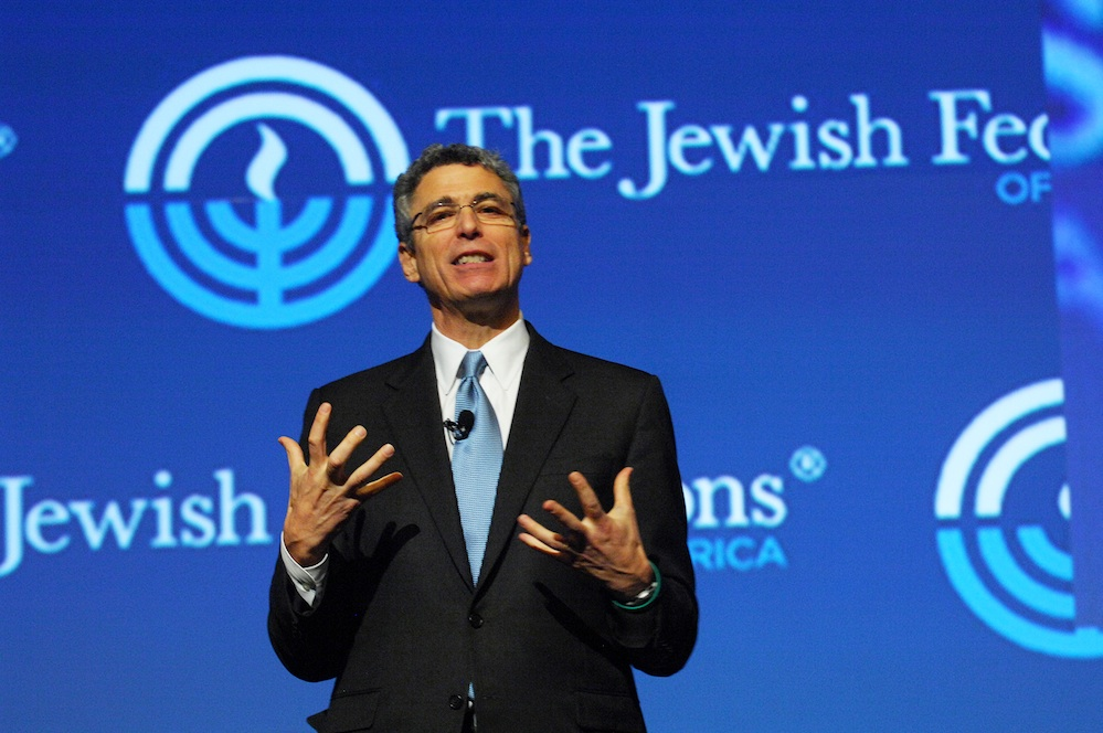 Click photo to download. Caption: Union for Reform Judaism (URJ) President Rabbi Rick Jacobs speaks at the Jewish Federations of North America (JFNA) General Assembly on Sunday. Credit: Robert A. Cumins for JFNA.