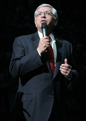 Click photo to download. Caption: NBA commissioner David Stern, who will retire in 2014, is Jewish. Credit: Cody Mulcahy/Wikimedia Commons.