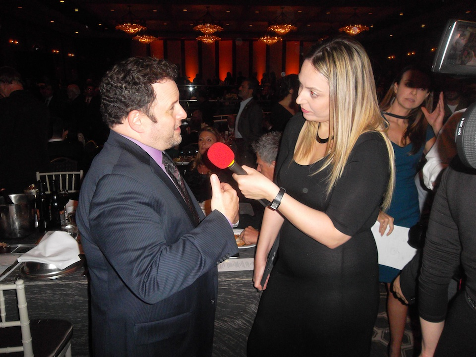 Click photo to download. Caption: Former Seinfeld star Jason Alexander is interviewed at the Dec. 6 FIDF gala in Los Angeles. Credit: Jacob Kamaras.