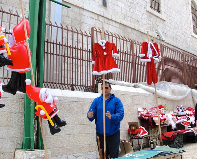 Click photo to download. Caption: Christmas in Nazareth. Credit: Judy Lash Balint.