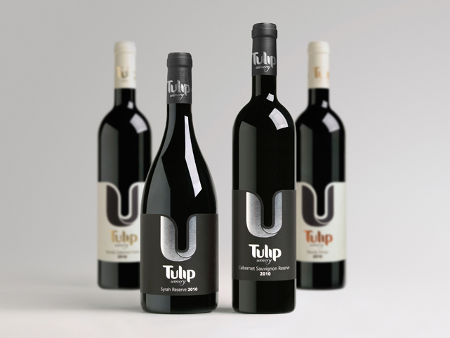Click photo to download. Caption: Bottles from Tulip Winery. Credit: Courtesy Tulip Winery.