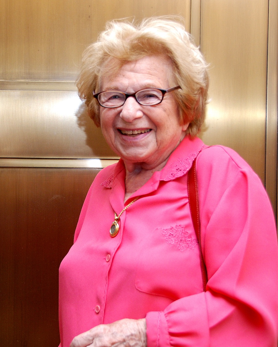 Click photo to download. Caption: Dr. Ruth Westheimer. Credit: Maxine Dovere.