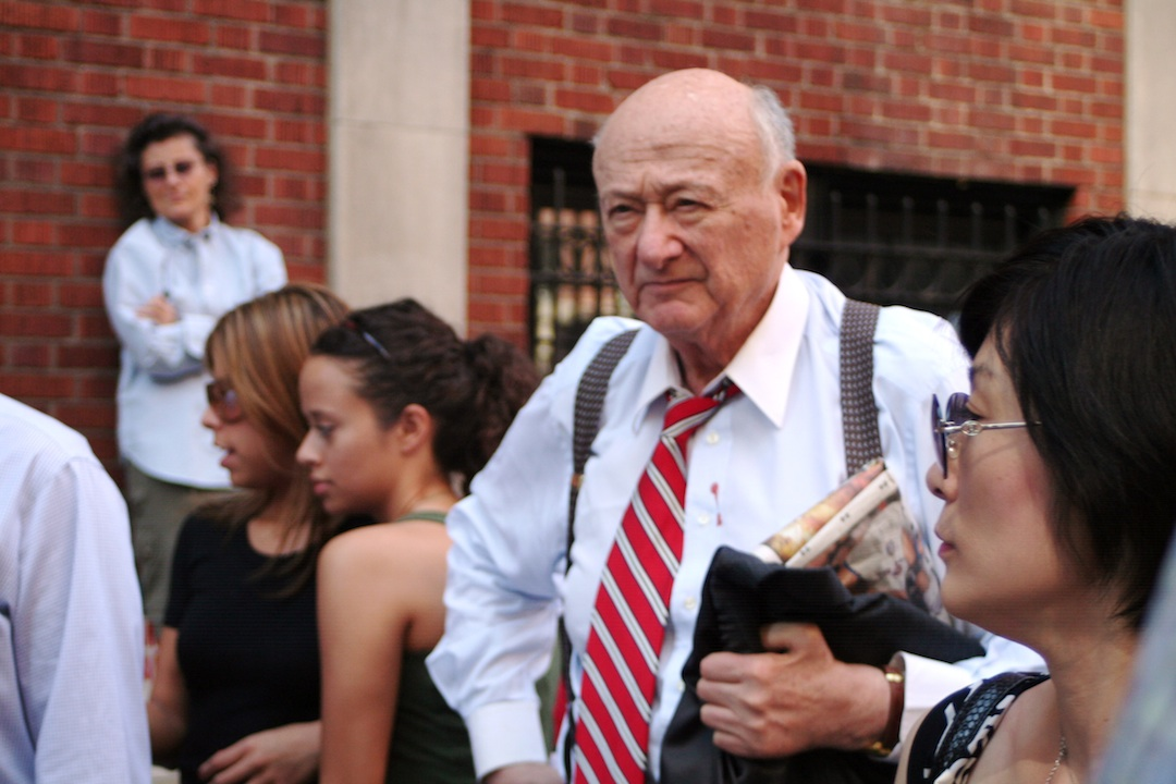 Click photo to download. Caption: Ed Koch in 2007. Credit: Boss Tweed/Wikimedia Commons.