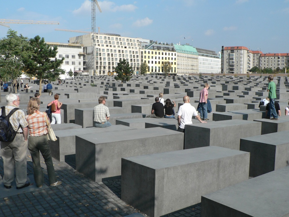 Click photo to download. Caption: Berlin's Holocaust memorial. Plan a European tour of such memorials and parks as both a vacation and an education, the JNS.org bar/bat mitzvah gift guide advises. Credit: Mark Fosh from Watford, UK/Wikimedia Commons.