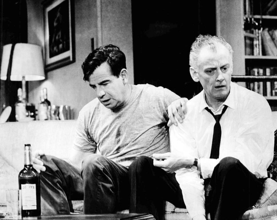 "Click photo to download. Caption: Walter Matthau as Oscar Madison and Art Carney as Felix Ungar from the original Broadway production of Neil Simon's ""The Odd Couple."" Credit: Henry Grossman/Wikimedia Commons."