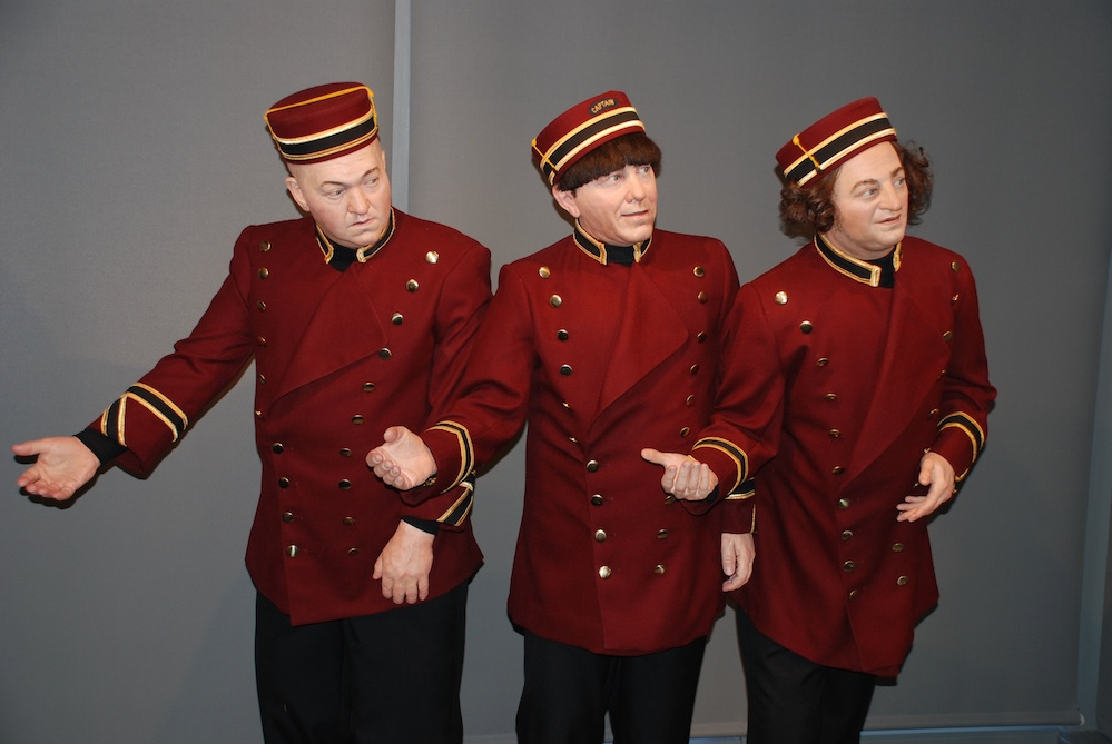 """Click photo to download. Caption: The Three Stooges are ubiquitous at """"The Stoogeum"""" memorabilia museum in Ambler, Pa. Credit: Gary Lassin."""
