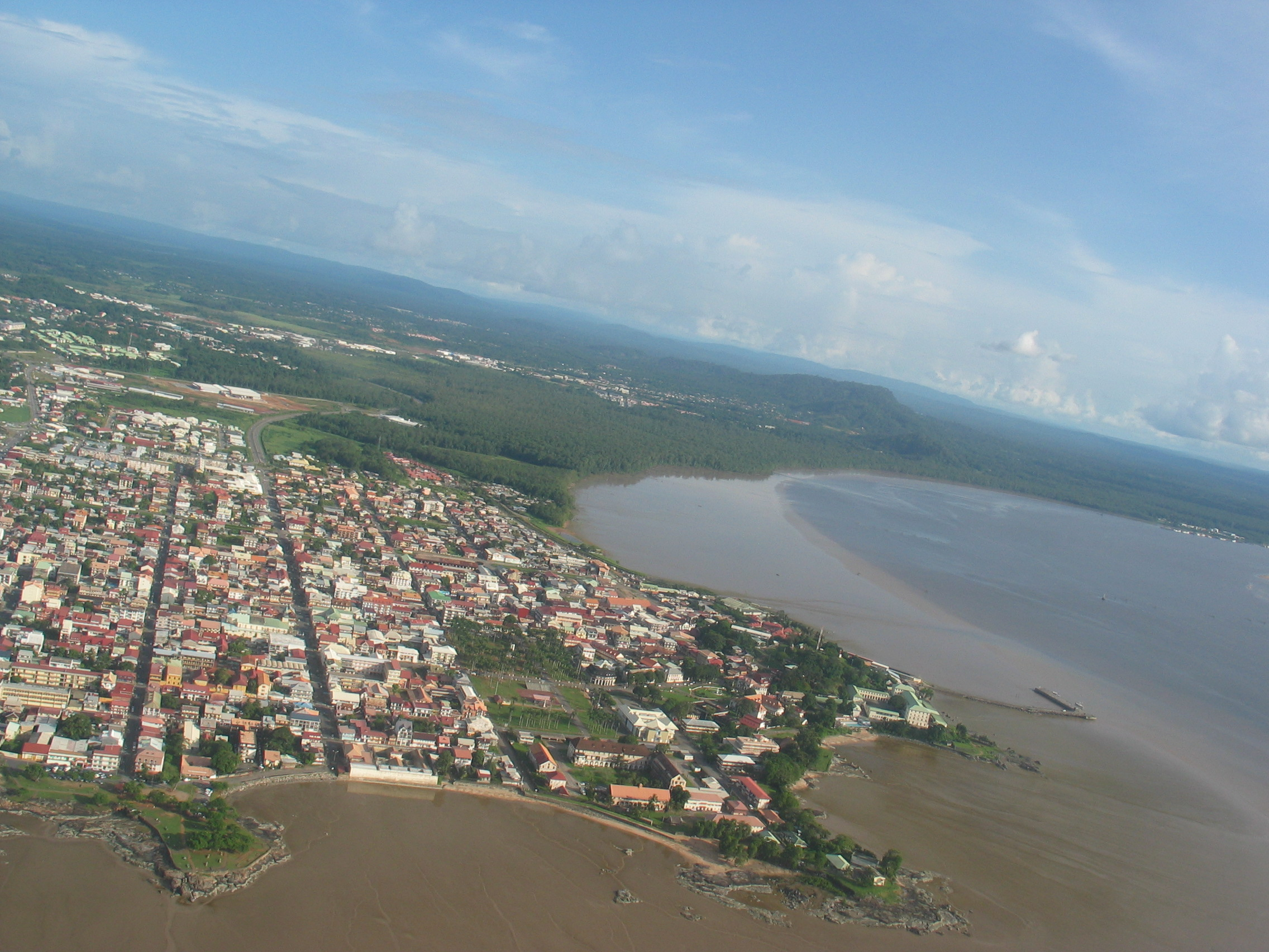 Click photo to download. Caption: A view of Cayenne, the capital of French Guiana. Credit: Raybx973/Wikimedia Commons.
