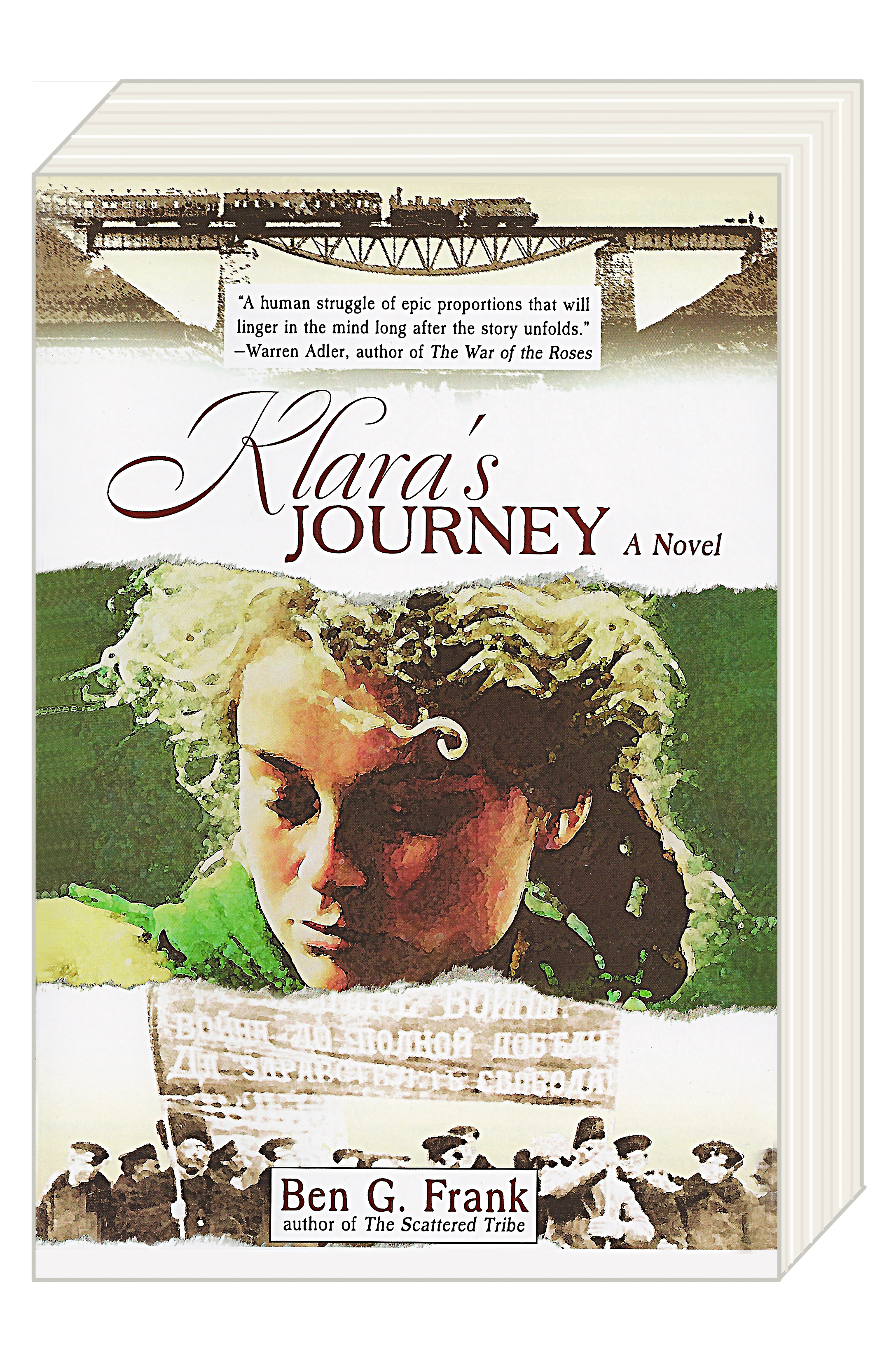 """Click photo to download. Caption: The cover of Ben G. Frank's """"Klara's Journey,"""" covered by Jeffrey F. Barken in a book review for JNS.org. Credit: Marion Street Press."""