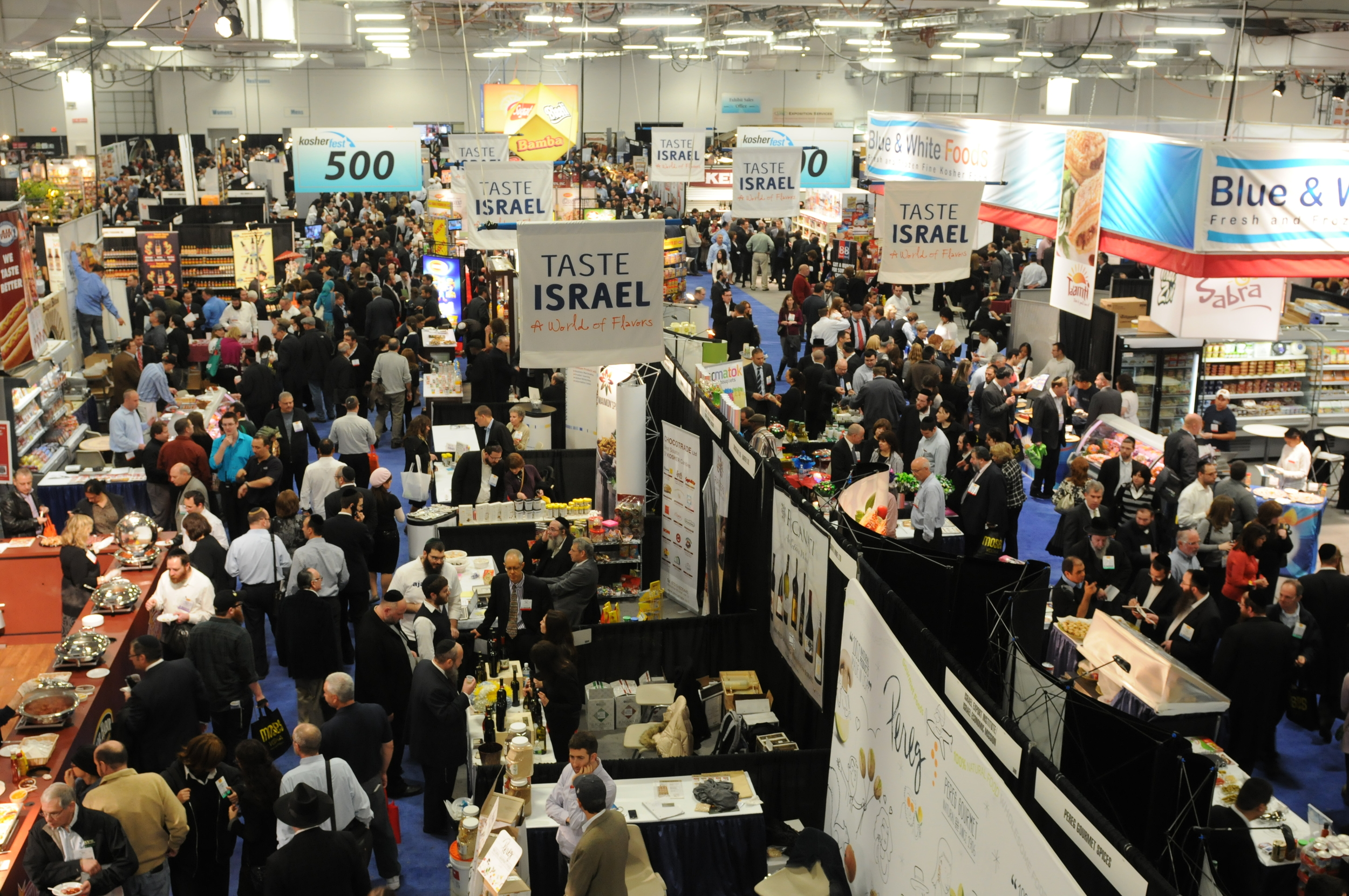 Click photo to download. Caption: The exhibition hall at Kosherfest 2012 in Secaucus, NJ. Credit: Levy/The Eelpond Photo Group.