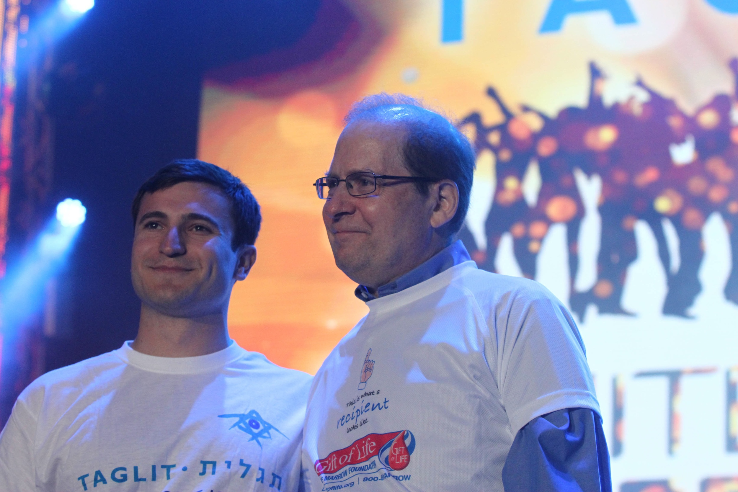 Click photo to download. Birthright alum Matthew Putterman (left) with Michael, to whom he made a bone marrow donation. Credit: Taglit-Birthright Israel.