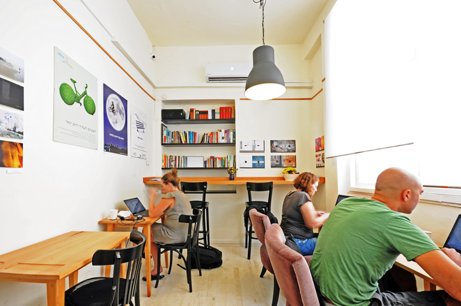 """Click photo to download. Caption: """"Misanthrope,"""" a shared workspace in Tel Aviv that is a haven for Israeli writers. In return for a small hourly fee, Misanthrope customers enjoy unlimited free coffee, fresh fruit, WiFi, and a comfortable public quiet space to work on personal projects. Credit: Misanthrope.                0    0    1    24    136    JNS    1    1    159    14.0                          Normal    0                false    false    false       EN-US    JA    X-NONE                                                                                                                                                                                                                                                                                                                                                                                                                                                                                                                             /* Style Definitions */ table.MsoNormalTable {mso-style-name:""""Table Normal""""; mso-tstyle-rowband-size:0; mso-tstyle-colband-size:0; mso-style-noshow:yes; mso-style-priority:99; mso-style-parent:""""""""; mso-padding-alt:0in 5.4pt 0in 5.4pt; mso-para-margin:0in; mso-para-margin-bottom:.0001pt; mso-pagination:widow-orphan; font-size:12.0pt; font-family:Cambria; mso-ascii-font-family:Cambria; mso-ascii-theme-font:minor-latin; mso-hansi-font-family:Cambria; mso-hansi-theme-font:minor-latin;}"""