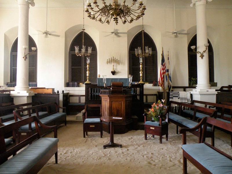 Click photo to download. Caption: The Beracha Veshalom Vegmiluth Hasidim Synagogue of St. Thomas. Credit: Anne Kazel-Wilcox.