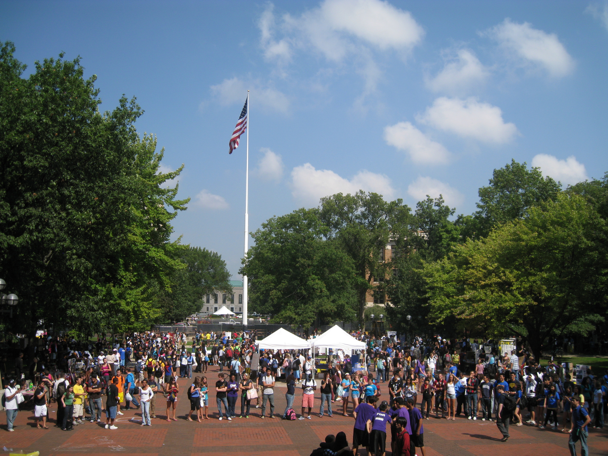 The University of Michigan campus. Credit: Andrew Horne via Wikimedia Commons.