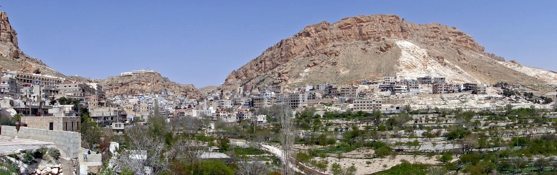 The Syrian Christian village of Maaloula. Credit: Bernard Gagnon via Wikimedia Commons.