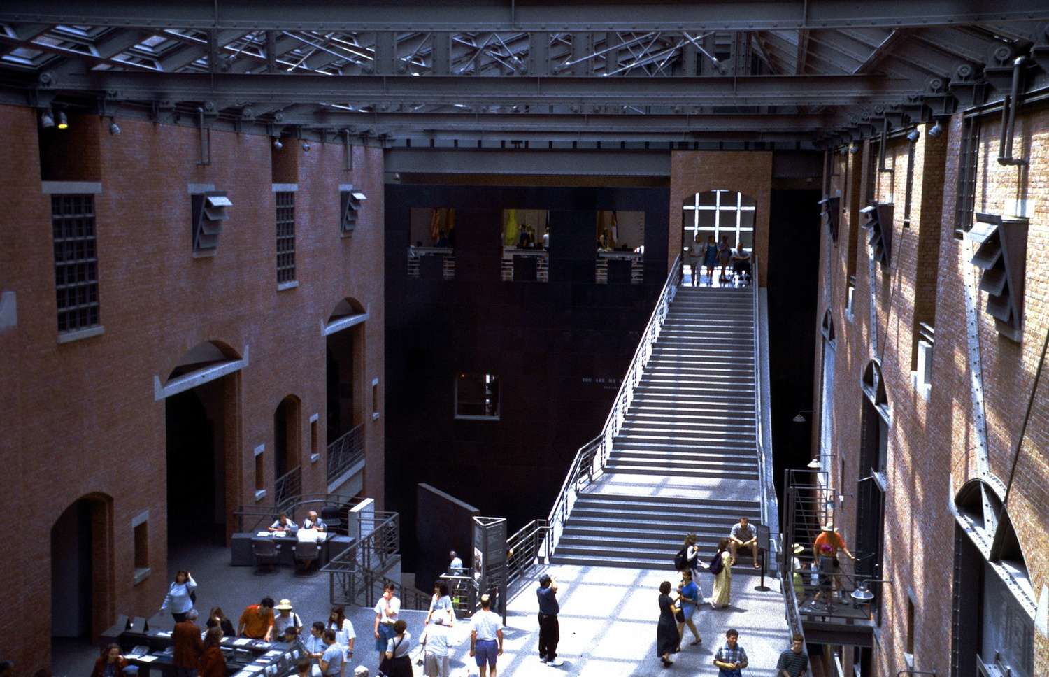 Click photo to download. Caption:The Hall of Witness at the U.S. Holocaust Memorial Museum in Washington, DC. Credit:Alan Gilbert, courtesy of USHMM Photo Archives.