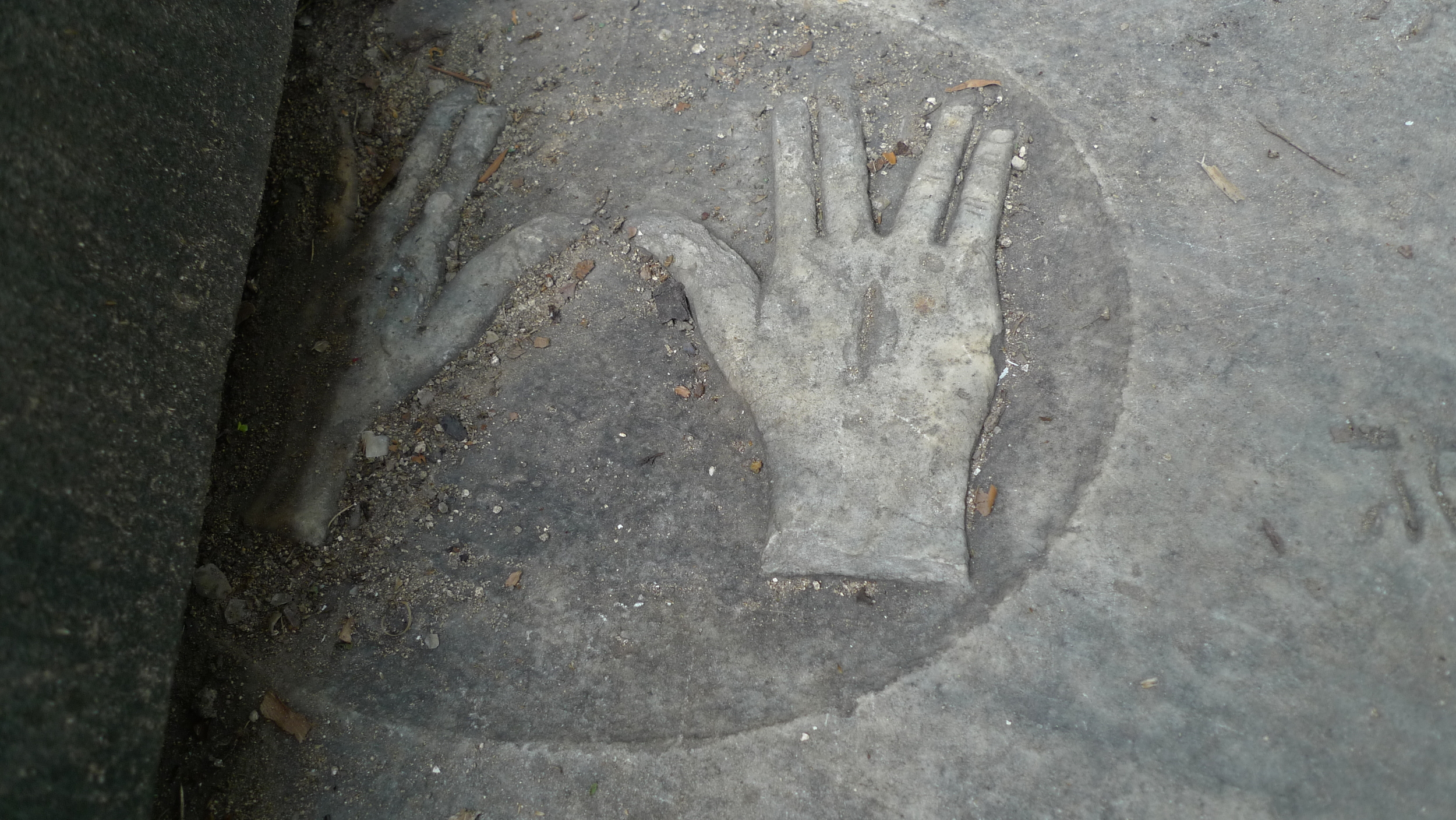 Click photo to download.Caption: The newest Jewish cemetery discovered inJamaicais in the town of Black River. Here, one graver maker, belonging to Hyman Cohen, has a pair of hands making the symbol of the kohen (Jewish high priest). Credit: Nicole Ryan.