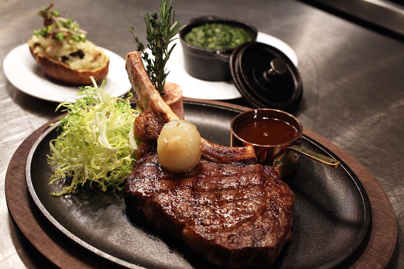 Click photo to download. Caption: A steak at Reserve Cut. Credit: Doug Schneider Photography/Reserve Cut.