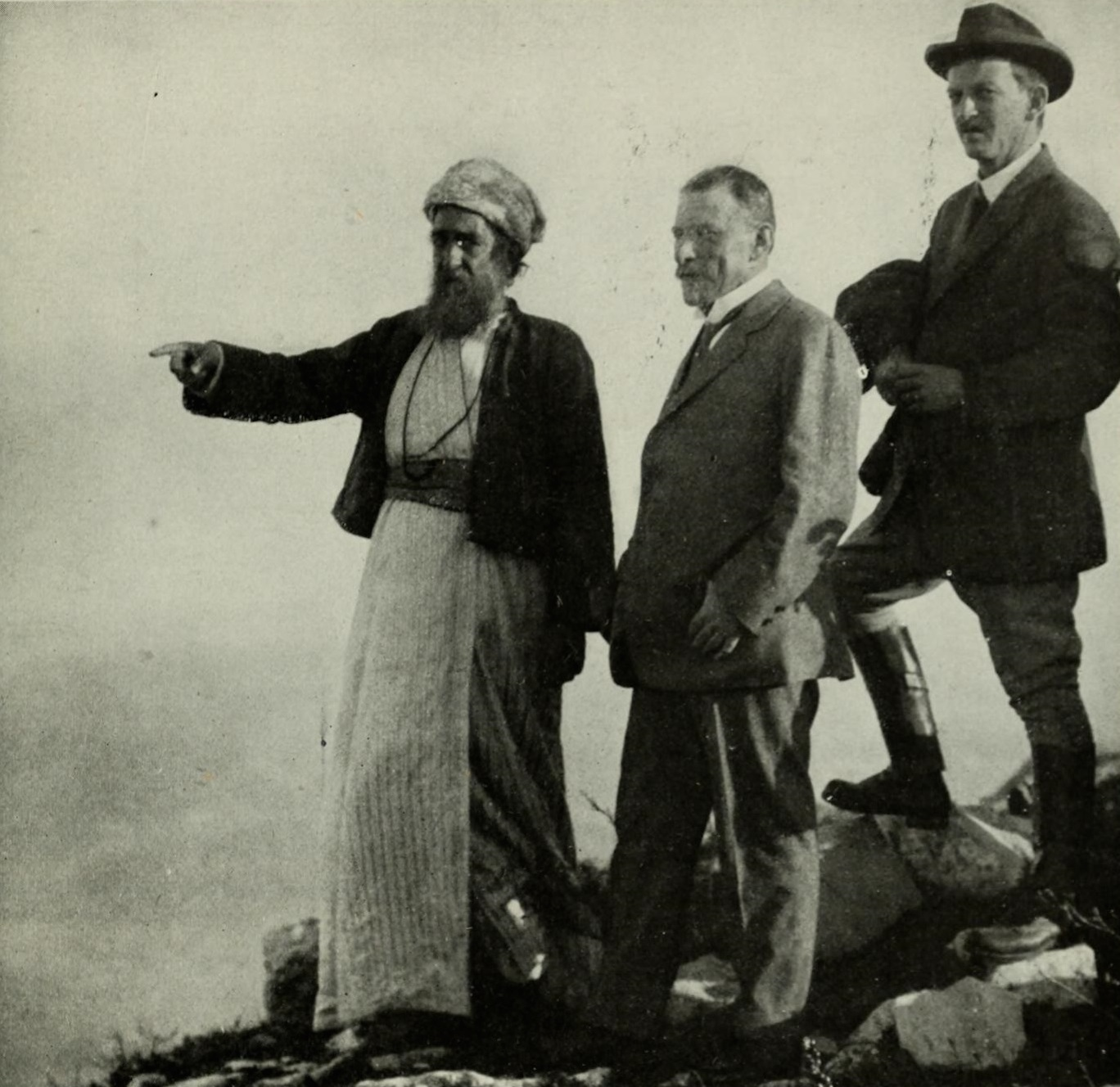 Click photo to download. Caption: U.S. Ambassador to TurkeyHenry Morgenthau, Sr. pictured in Turkish-ruled Palestine. From 1915-1916, thousands of Jews in Palestine died of starvation or diseases aggravated by the lack of food, butMorgenthau played a critical role in rescuing Palestine Jewry from utter devastation. He persuaded President Woodrow Wilson to let U.S. ships bring food and medicine to the Palestine Jewish community, even though that technically meant providing supplies to Turkey, a country with which the U.S. was at war. Credit:The World's Workvia Wikimedia Commons.