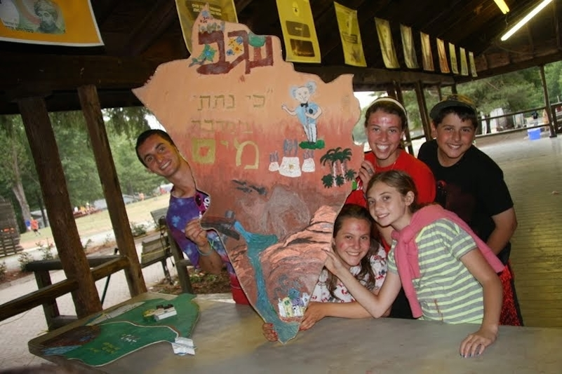 """Click photo to download. Caption: Campers at Moshava, a religious Zionist camp whose director, Alan Silverman, writes that the goal is to """"introduce new elements of 'old' concepts and themes to students who already have an excellent foundational understanding of Judaism and Zionism."""" Credit: Camp Moshava."""