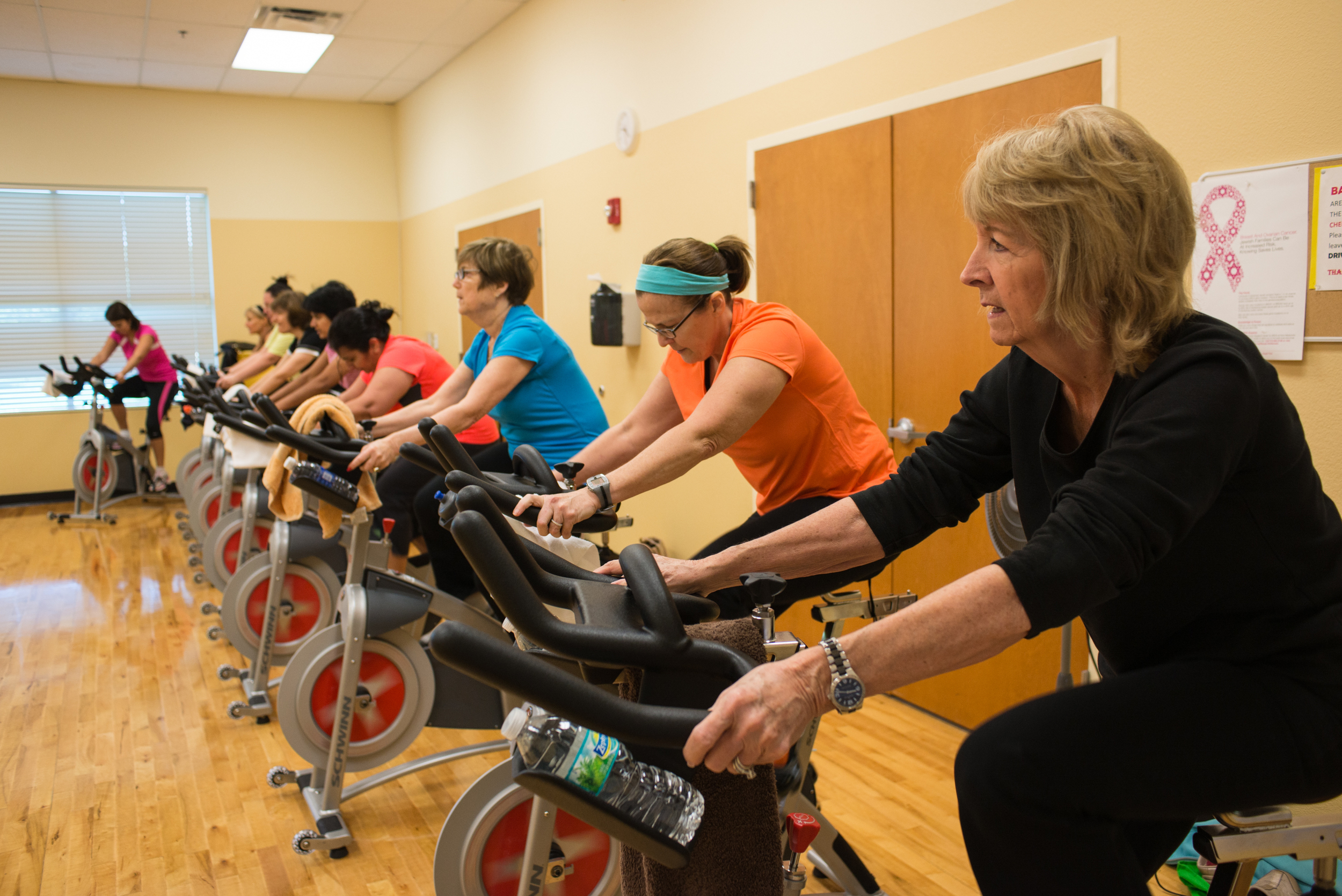 Click photo to download. Caption: The fitness center at the Rosen JCC in Orlando, Fla. Credit: ©Cyndy Phillips, Attribution-ShareAlike 3.0 Unported License | Rosen JCC, Orlando FL.