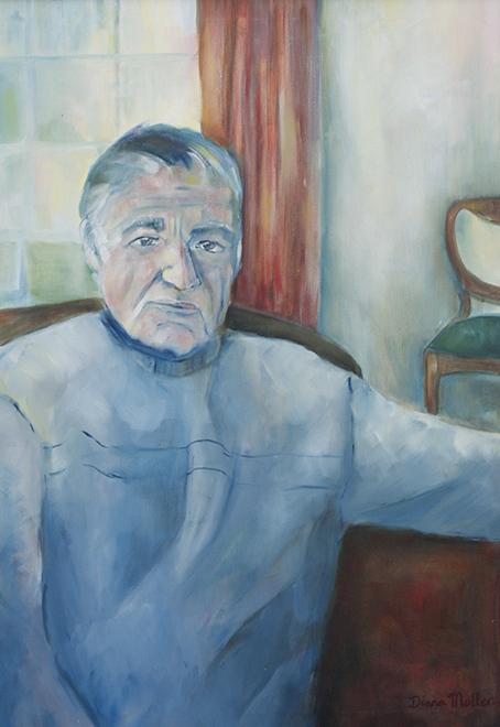 Click photo to download. Caption: Diana Muller's portrait of Irish Holocaust survivor Jan Kaminski. Credit: Diana Muller.