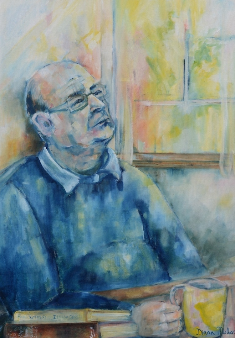 Click photo to download. Caption: Diana Muller's portrait of Irish Holocaust survivor  Zoltan Zinn-Collis.   Credit: Diana Muller.