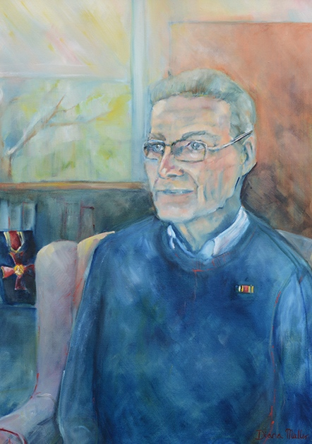 Click photo to download. Caption: Diana Muller's portrait of Irish Holocaust survivor  Tomi Reichental.Credit: Diana Muller.