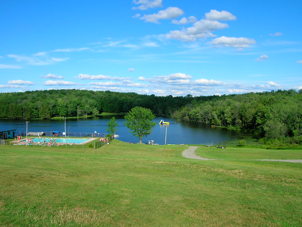 Click photo to to download. Caption: Jewish summer camps such as Camp Ramah in the Poconos (pictured here) are usually open areas, in many cases without fences or barriers, and are often isolated, potentially making them an easier target for attacks. Credit: Yonkeltron via Wikimedia Commons.