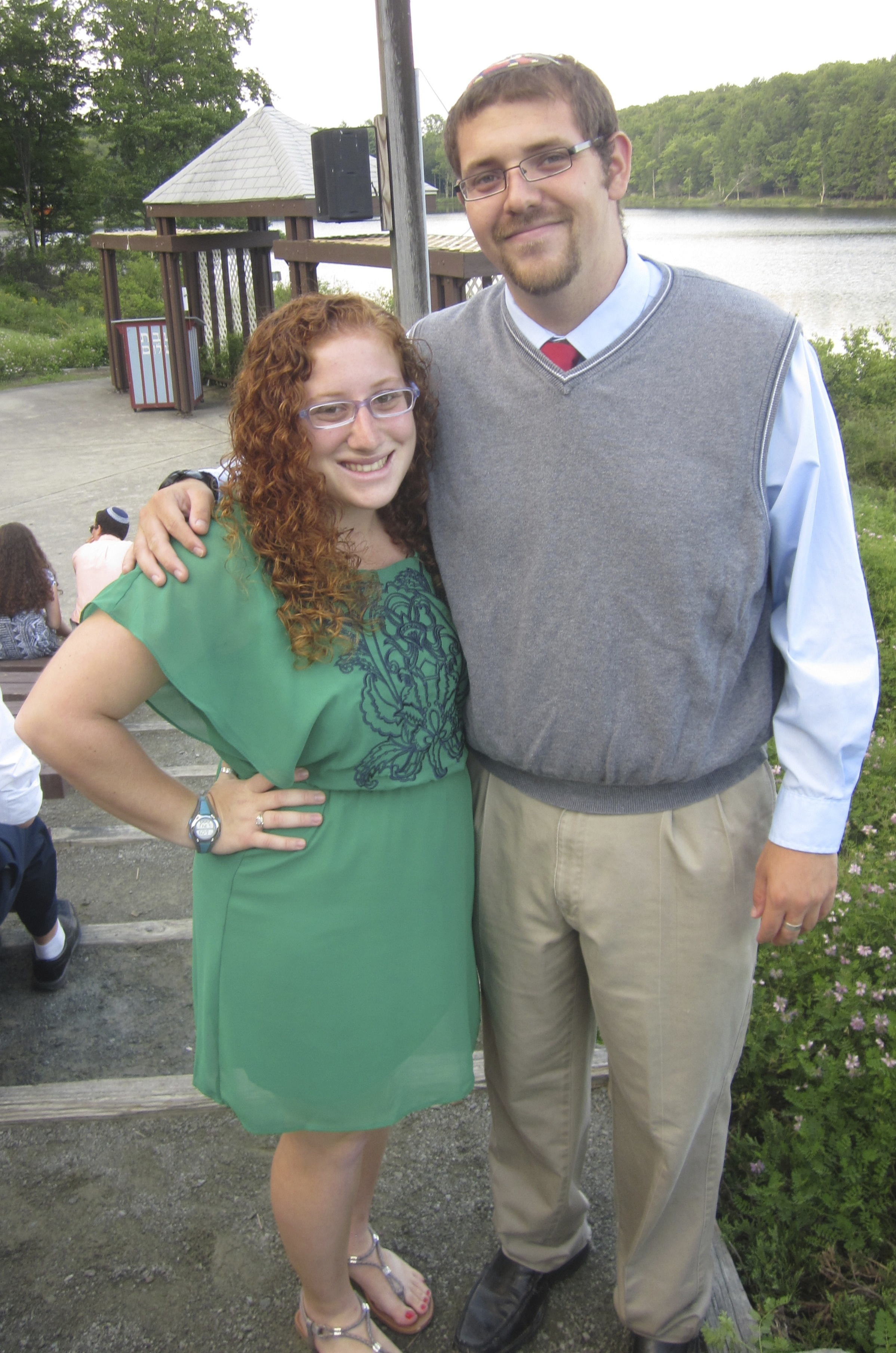 Click photo to download. Caption: Mollie Gansky and Corey Bass (pictured) met at Camp Ramah in Pennsylvania's Pocono Mountains. Credit: Courtesy Mollie Gansky.