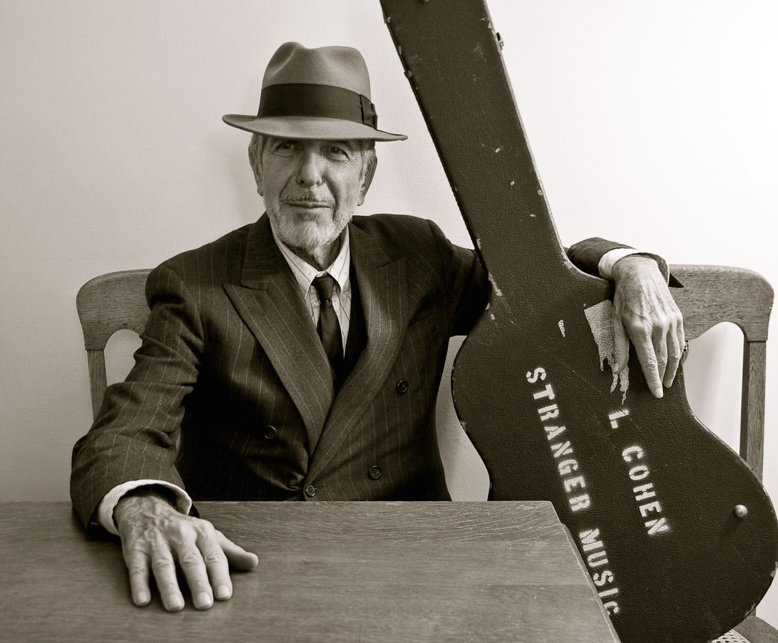 Click photo to download. Caption: Leonard Cohen. Credit: Leonard Cohen press photo.