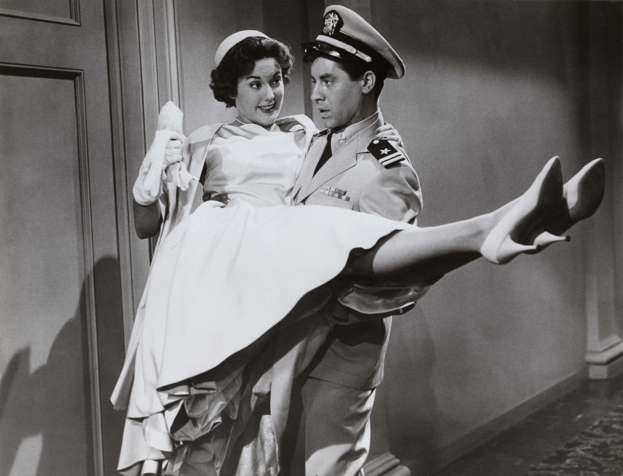 """Click photo to download. Caption: Jerry Lewis (right) with Diana Spencer in """"Don't Give Up the Ship."""" Credit: www.doctormacro.com  ."""