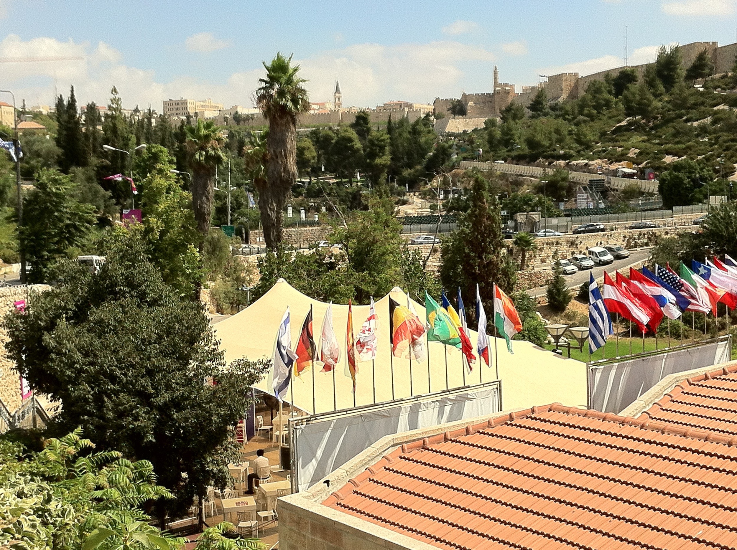 Click photo to download. Caption: The Jerusalem Cinematheque and Sultan's Pool just below the walls of the Old City, the venue of the annual Jerusalem International Film Festival. Credit: Judy Lash Balint.