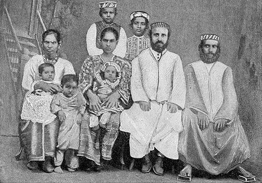 Cochini Jews, a community that originated in India and now has 25,000 members living in Israel. Credit: Wikimedia Commons.