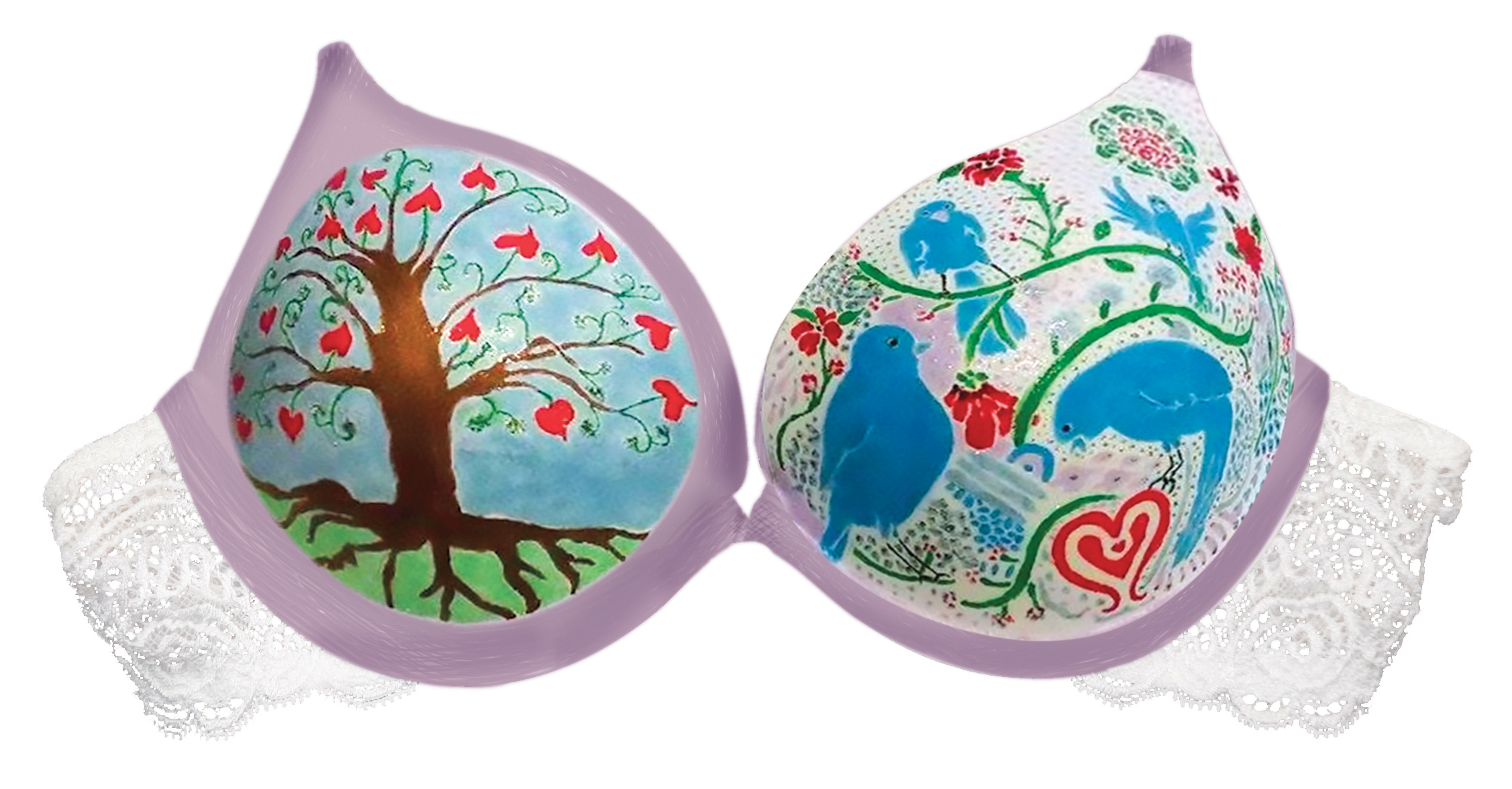 Click photo to download. Caption: One of the bras decorated through Hadassah's The Uplift Project. Credit: Agnes Gregorio, Sr. Graphic Designer, Hadassah.