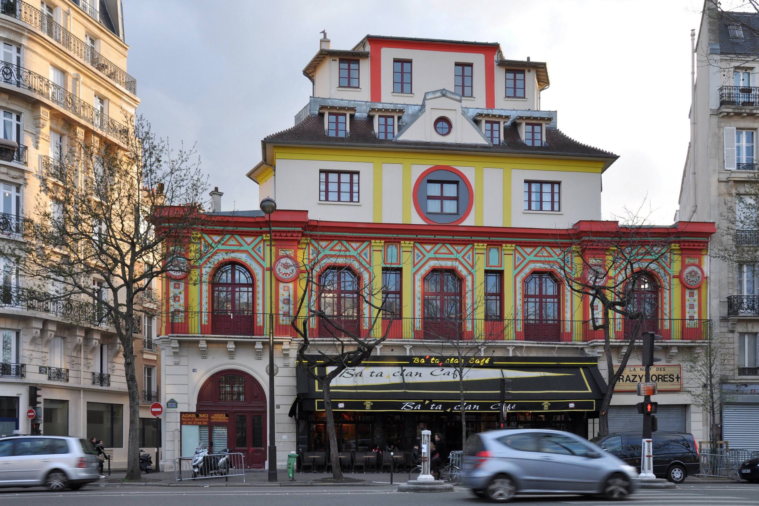 The Bataclan concert hall in Paris, site of an Islamist terror attack in which 89 people were killed Friday among 129 deaths across six coordinated attacks. Credit:Céline via Wikimedia Commons.