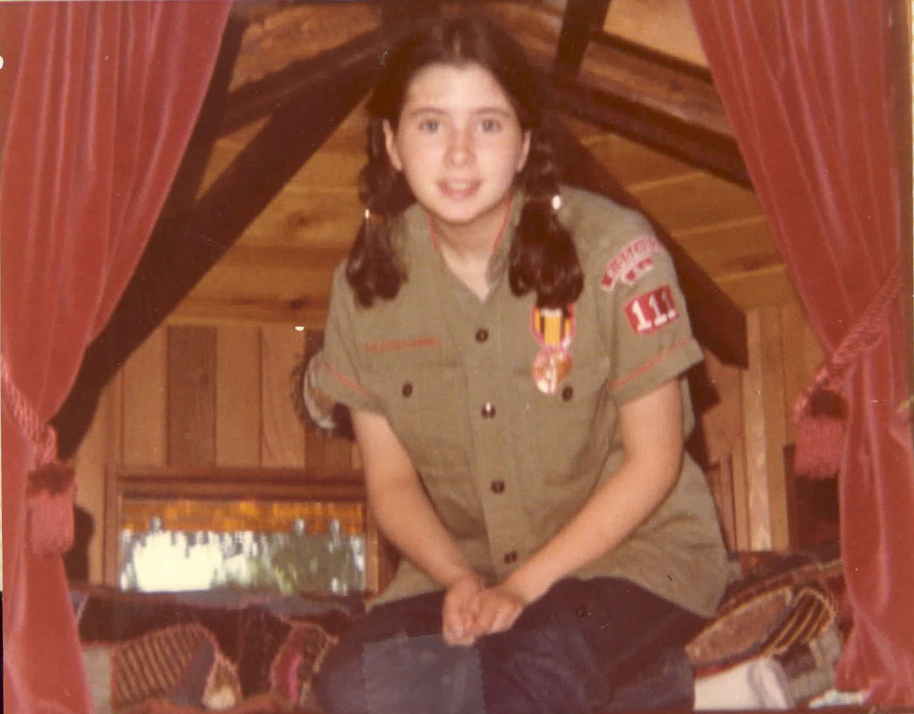 Click photo to download. Caption: Dawn Lerman,age 15 in this photo, at summer camp. Credit: Courtesy Dawn Lerman.