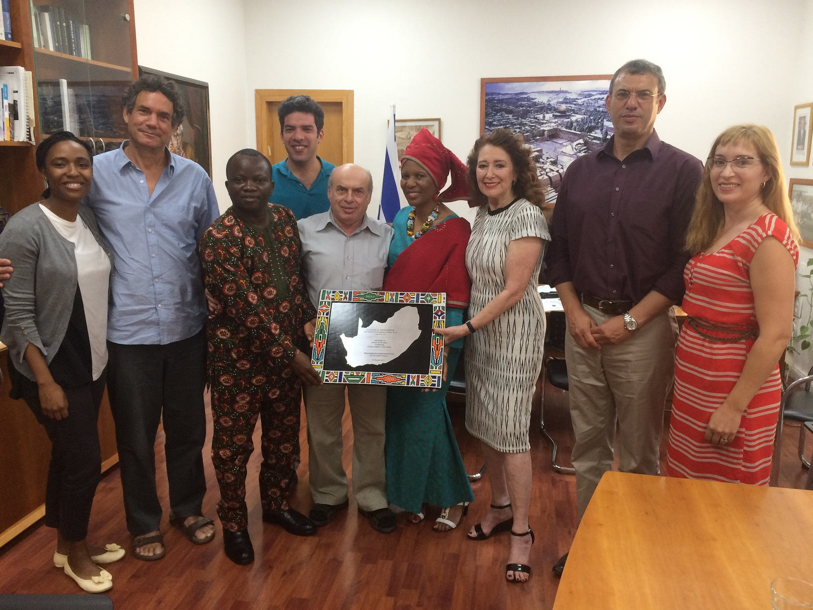 Jewish Agency Chairman Natan Sharansky with African Christian leaders, July 27, 2016. Credit: Avi Mayer for The Jewish Agency for Israel.