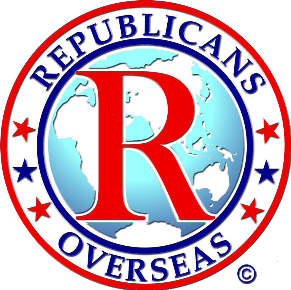 The logo of Republicans Overseas. Credit: Republicans Overseas.