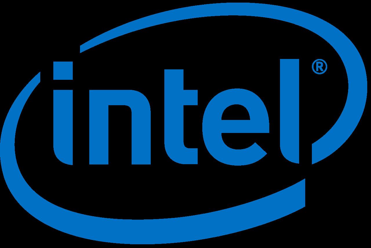 The Intel logo. Credit: Wikimedia Commons.