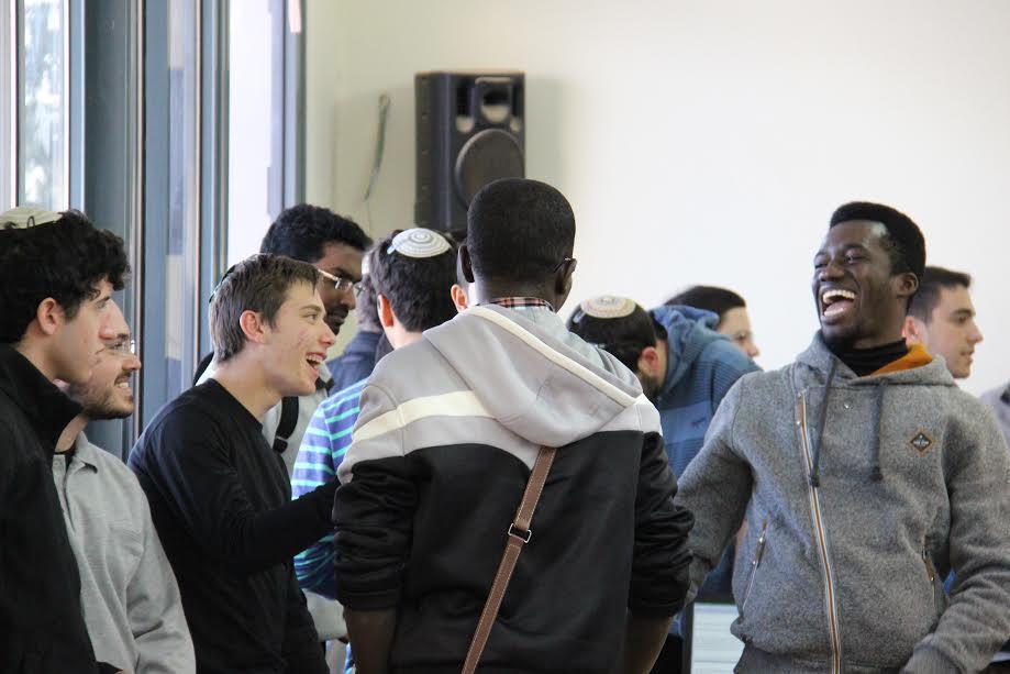 Catholic students in the four-year degree program of Jerusalem-based Salesian Pontifical University visit the yeshiva located on Kibbutz Ma'ale Gilboa. Credit: Courtesy Shalom Hartman Institute.